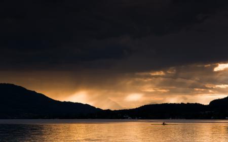 Заставки озеро, вечер, Austria