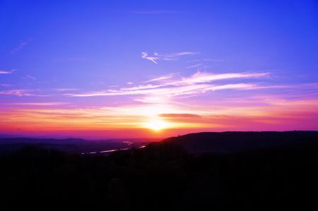 Фото пейзаж, закат, небо