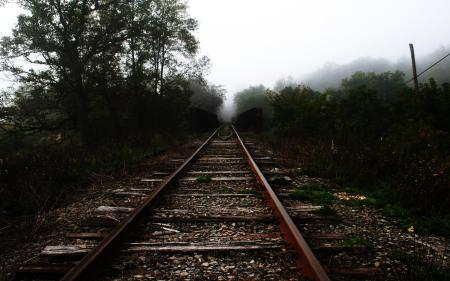 Фотографии насыпь, железная дорога, рельсы, шпалы