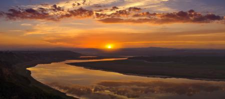 Фотографии Долина, Река, Вода, Отражение