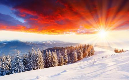 Заставки зимние пейзажи, природа, снег, зима