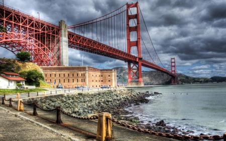 Фото мост, река, Сан Фрациско