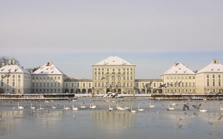 Картинки Дворец, palace, зима, озеро