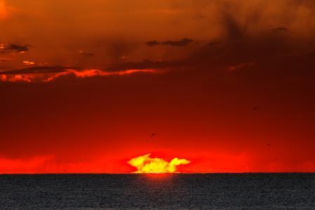 Фотографии рассвет, восход, солнце, вспышка