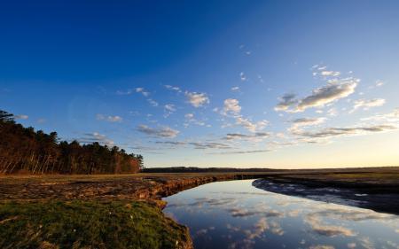 Заставки пейзаж, природа, река, деревья
