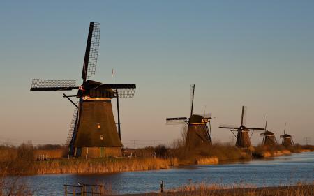 Фотографии мельницы, река, пейзаж