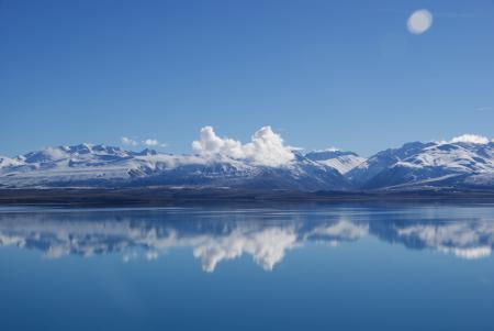 Заставки Пейзаж, озеро, горы, небо