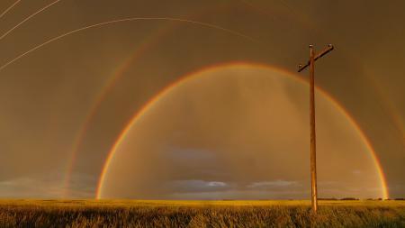 Фотографии небо, радуга, вечер, пейзаж