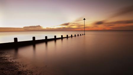 Картинки море, закат, небо, пейзаж