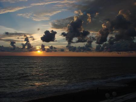 Фотографии закат, море, вечер, облака