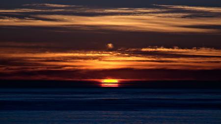 Картинки Вечер, темно, оранжевый, закат