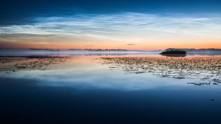 Картинки туман, утро, озеро