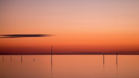 Картинки закат, река, пейзаж