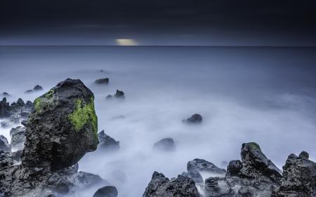 Фотографии море, скалы, ночь, пейзаж