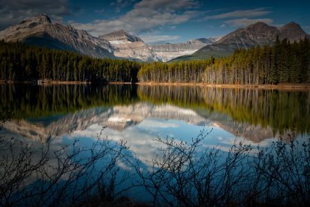 Картинки Канада, озеро, горы, отражение