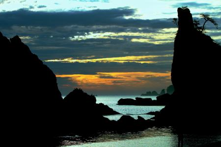 Фотографии море, скалы, облака, закат