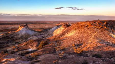 Заставки пустыня, закат, солнце, свет
