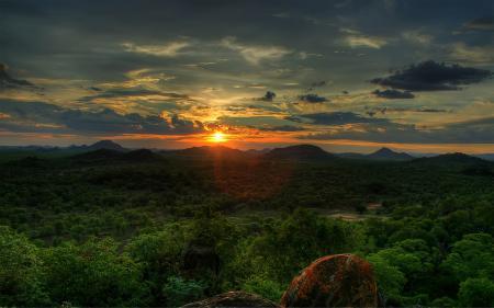 Картинки African Sunset, sky, sunset, the sun