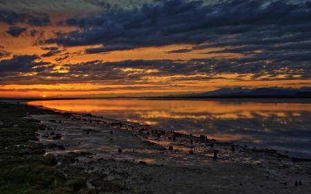 Фото fraser, закат, небо