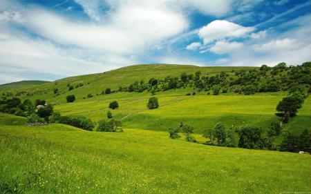 Картинки долина, лето, трава, небо