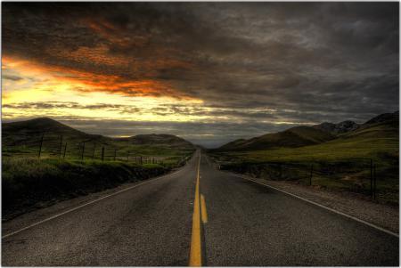 Заставки дорога, разметка, горы, пейзаж