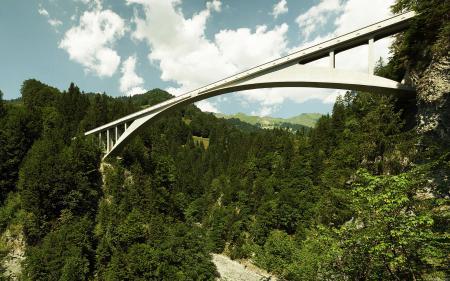 Заставки мост, высота, лес, горы