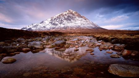 Фото гора, небо, тучи, степь
