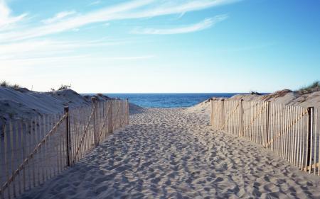 Фотографии пляж, дорожка, море, горизонт