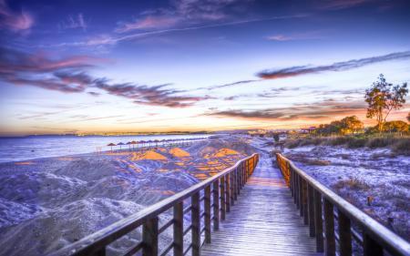 Обои морские города, пейзажи, берег, море