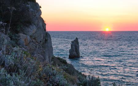 Фото море, волны, вода, скала
