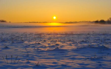 Фотографии небо, снег, заката