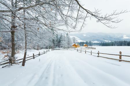 Заставки Карпаты, природа, зима, снег
