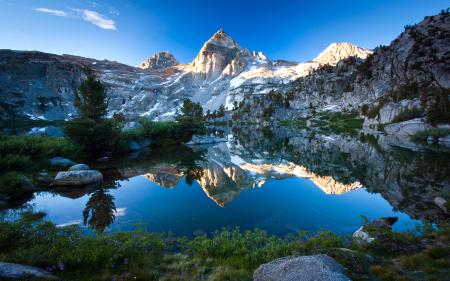 Картинки Природа, горы, озеро, камни