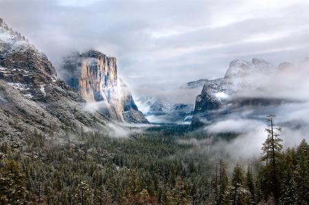 Картинки горы, лес, зима