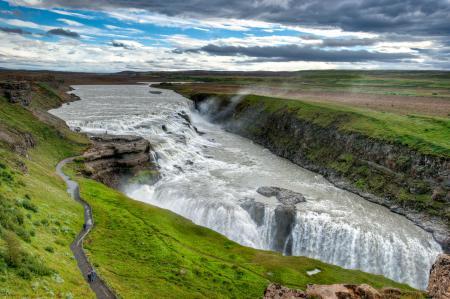 Фотографии долина, водопадов, турысты