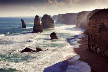 Обои утро, свет, море, волны
