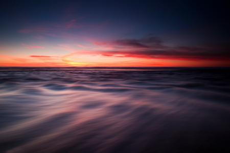 Картинки море, вечер, небо, гладкость