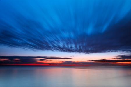 Картинки восход, утро, океан, облака