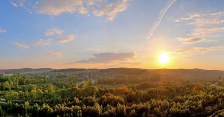 Картинки пейзаж, солнце, закат, Россия
