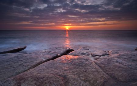 Заставки море, закат, пейзаж
