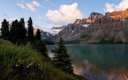 Обои горы, озеро, природа, пейзаж