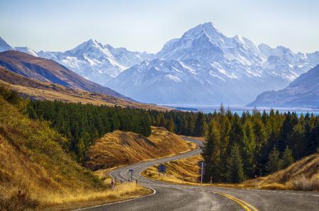 Заставки парк, Новая Зеландия, горы, дорога