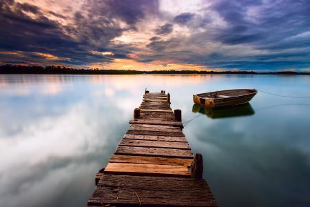 Картинки небо, тучи, облака, закат