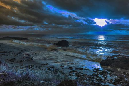 Обои небо, облака, тучи, вечер