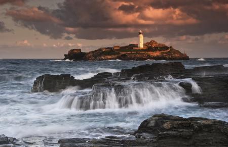 Фотографии море, камни, маяк, башня