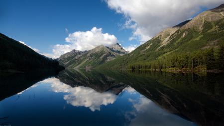 Фотографии озеро, холмы, долина