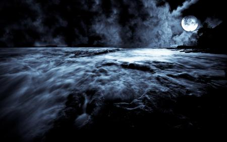 Картинки луна, ночь, moonrise