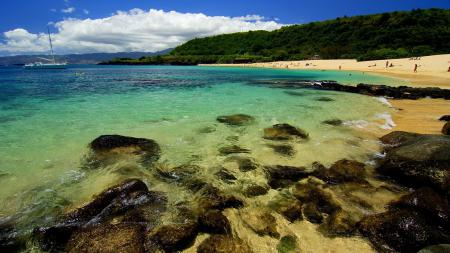 Фото пейзаж, природа, пляж, камни