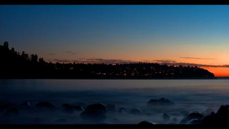 Заставки carkeek sunset, берег, камни, закат