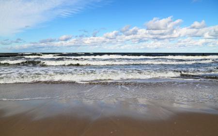 Фотографии море, волны, пена, вода